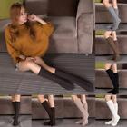 Neu Damen Beinwärmer Socken Schritt-fuß Strick 8 Word Aus Wolle Stiefel Strumpf