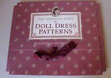 "American Girl Doll 18"" Dress Patterns Sewing Pleasant Company Uncut Samantha"