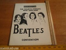 1981 The Beatles convention program New England fans 4th magazine