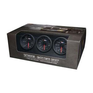 GlowShift  Black-7-Color-Diesel-Gauge-Set-60-Boost-2400-Pyrometer-EGT-Trans-Temp