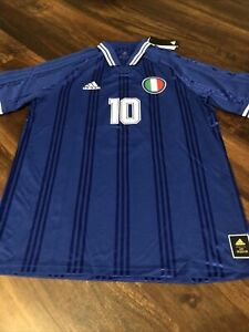 New Adidas Mens Roma Italy Soccer Jersey Size Medium Blue