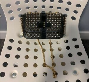 christian louboutin charity bag studded new genuine