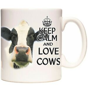 FRESIAN COW gift coffee mug / tea cup.  Kazmugz Exclusive. Farmers Keep Calm Mug