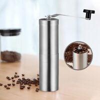 Silver Grinder Mini Stainless Steel Hand Manual Handmade Coffee Bean Grinder uW