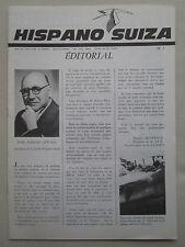 REVUE HISPANO-SUIZA 1963 N°1 GUYNEMER TRAVERSEE MANCHE BALLON NUCLEAIRE CAUDRON