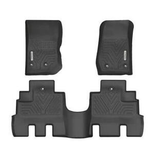 Floor Mats Liners For 2014-2018 Jeep Wrangler JK Unlimited All Weather 3pc Set