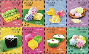 Thailand Stamp 2020 New Year 2021 (Colorful Thai Sweets) ST