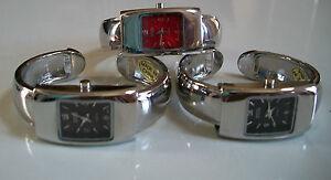 Women Silver Finish Color Dial Cuff Bangle Fashion Dressy/Casual Watch