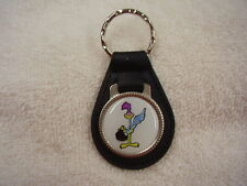 PLYMOUTH ROAD RUNNER   KEY CHAIN  BLACK LEATHER FOB
