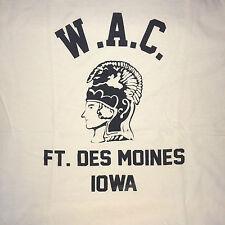 WWII US Army WAC WAAC Ft. Des Moines Iowa T Shirt Spec Tag Unisex size XXL