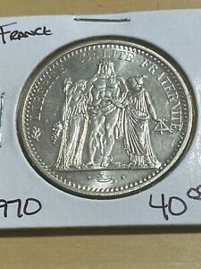 1970 France 5 Francs Large Silver Coin!!