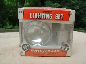 Vintage Bike Pals by Dorcy Industries Deluxe Generator Chrome Lighting Set E-22