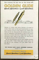 1961 Golden Glide Shock Absorber Co Cleveland Print Ad Give Customers the Best