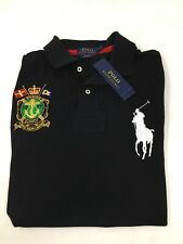 Ralph Lauren Polo Men's Sz L Big Pony Marine Supply 1967 Black Shirt New w Tags