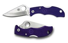 Spyderco Ladybug 3 Folding Knife Purple FRN Plain Edge LPRP3