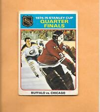 HOCKEY CARDS-75/76 OPC #6 STANLEY CUP QUARTER FINALS