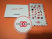 CHANEL VIP Gift COCO Cafe Sticker Coaster Cup with 5 lipsticks samples