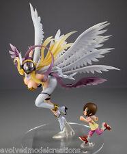 NEW ANGELWOMON & HIKARI Figure AUTHENTIC PVC Digimon Adventure Tri GEM Megahouse