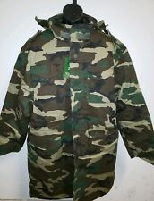 NWT Delf Army Military Style Field Jacket Trench Coat Green Camo with Liner 2XL
