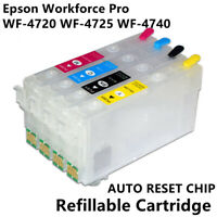 1set Refillable With Chip T35XL T3591 Ink Cartridges For Epson WF-4720 WF-4725