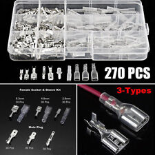270X Electrical Wire Connectors Sleeve Assorted Insulated Crimp Terminals Spade