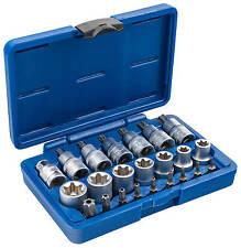 Exterior TORX nueces 23 piezas innentorx nuez llave vaso puntas KFZ herramienta set