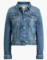 Ella Moss Womens Denim Jacket Bardot Size XL