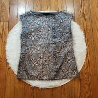 Banana Republic Women's Sleeveless Animal Print Party Blouse Size Small S