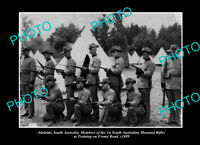 OLD POSTCARD SIZE PHOTO ADELAIDE SOUTH AUSTRALIA THE SA MOUNTED RIFLES c1899