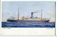 T.S.S. ULYSSES The Blue Funnel Line 1907 - 1915 GB Passenger/Cargo Ship Postcard