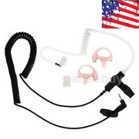 New 2.5mm Earpiece Headset Coiled Tube For Harris Police Radio XG25 XG75 P7300