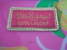 Lilly Pulitzer for Estee Lauder Cosmetic Bag Lemons Pink Yellow Plastic bag
