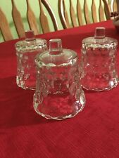 Home Interior Clear Block Votive Cups Set Of 3 No Cracks Or Chips New