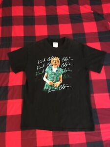 Kurt Cobain Graphic M&O Knits Mens T Shirt Dress Vintage Nirvana Rock M