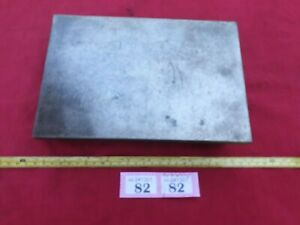 """Vintage Engineers Surface Plate 9"""" x 7"""" x 2-1/4"""" Steel and Cast Base Smooth Top"""