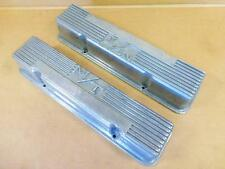 55-59 Chevy 283 MICKEY THOMPSON Valve Covers SBC Rare staggered Bolt pattern M/T