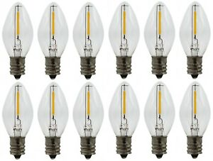 (12 Pack) LED Night Light Bulbs, C7 Replacement Bulbs, 7watt Equivalent, 120v