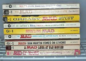 Vintage MAD Magazine Lot of 9 Paperbacks 1963 to 1974