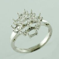 Details about  /Semi Mount Faceted 5X7MM Oval Shape 925 Sterling Silver Yellow Color Ring