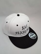 San Francisco Embroidered  Snap back Cap White and Black.