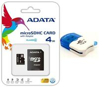 ADATA 4GB MICRO SD XC SDXC MEMORY CARD CLASS 4 FOR GO PRO HD HERO 3 CAMCORDER