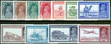 India 1937 set of 11 to 12a SG247-258 Ex-2a6p Fine Lightly Mtd Mint