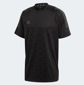 Adidas Men's Tan Jacquard Jersey Top, Black