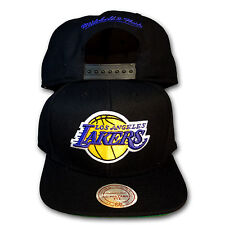 Original Mitchell & Ness Los Angeles Lakers Snapback Cap NBA Wool Solid schwarz