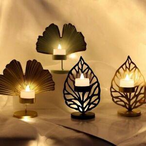 Christmas Leaf Tea Light Candle Holders Art Candlestick Tealights Xmas Home Deco