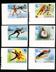Liberia Stamps # 867-72 XF Imperf OG NH