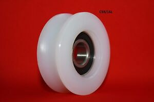 59MM Round U Groove Nylon Pulley w Ball Bearing Wheels Roller for Rope