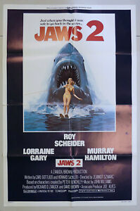 "Jaws 2 1978 Original One Sheet Movie Poster 27"" x 41"" Excellent Condition"