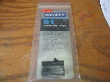 Weaver #61 (48061) Top Mount Bases for Ithaca LSA-55, LSA-65 NIP OSS