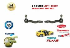 FOR MAZDA RX8 1.3 2.6 2003-> LEFT & RIGHT OUTER STEERING RACK TRACK ROD END SET